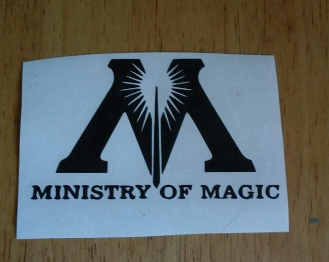 Ministry Of Magic Harry Potter Inspired Vinyl Decal