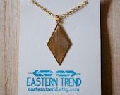 On Sale: Diamond Stripes Necklace