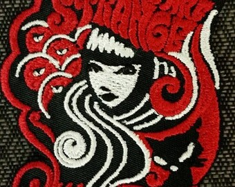 Emily the Strange Embroidered Iron On Patch,  People are strange embroidered patch, Iron On Patch