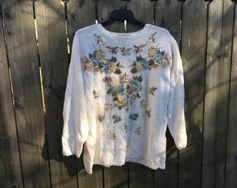Womans Plus Size: Vintage Grandma Sweater