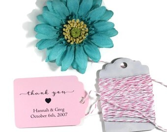 Wedding Favor Tags set of 20 - Personalized Light Pink Wedding Favor Tags - Baby Pink Custom Favors - Wedding Labels - Custom  Hang Tags