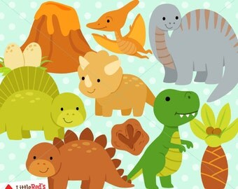 Dinosaur Clipart and Lineart - personal and commercial use