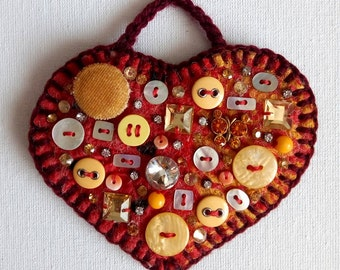 "FIBER ART - ""Felted Heart"""