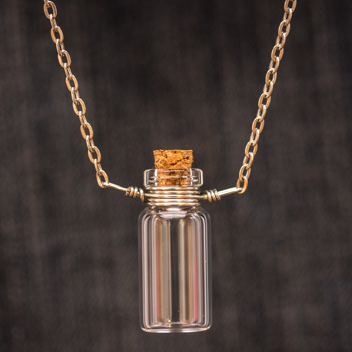 free shipping empty glass vial necklace diy jewelry fill