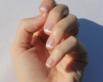 White French Transparent Nail Wraps - Fits Shorter Nails