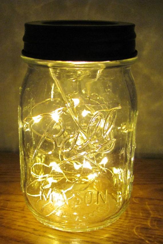 Mason Jar Battery Operated String Lights Lantern Pint Size