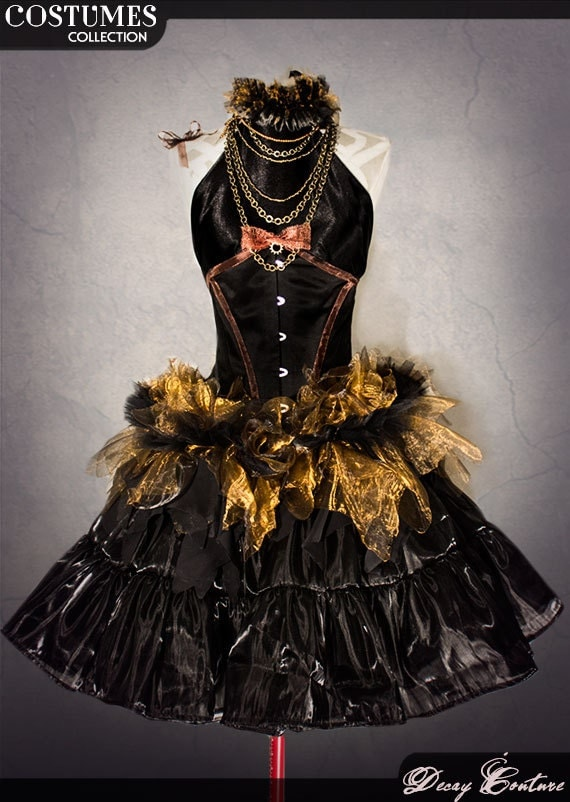 Steampunk costume prom dress
