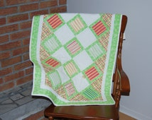 Popular Items For Green Baby Quilt On Etsy