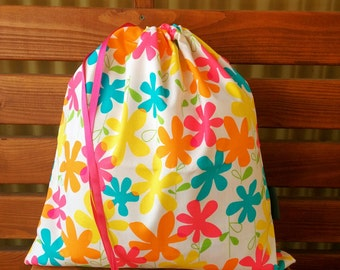Library Bag - Flower Power
