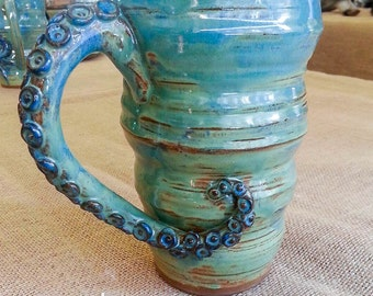 Tentacle Handle Mug Stoneware