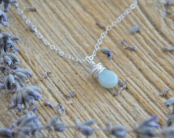 Wrapped Amazonite necklace