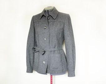 Vintage Aquascutum 1970s 100% Wool Womens Military Style RAF Coat Jacket Blazer