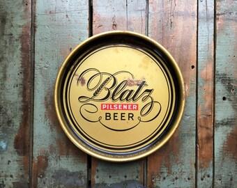 Vintage Blatz Beer Serving Tray, Blatz Pilsener Beer Collectible, Vintage Breweriana