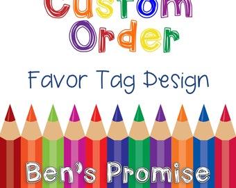 Custom Favor Tag Design - Graphic Design