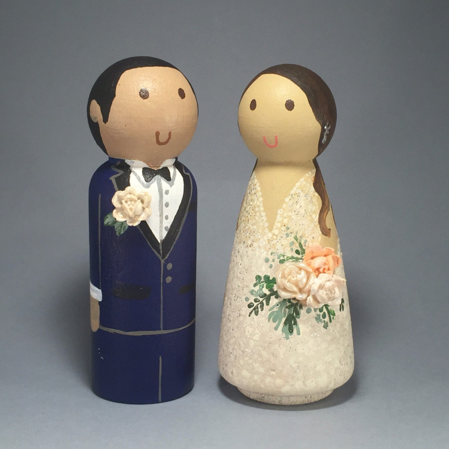 wedding cake toppers wooden dolls wedding wooden peg doll cake topper with 3d accessories 26642