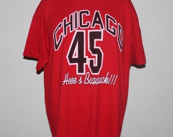 Vintage Chicago Bulls Michael Jordan #45 NBA T-Shirt XL