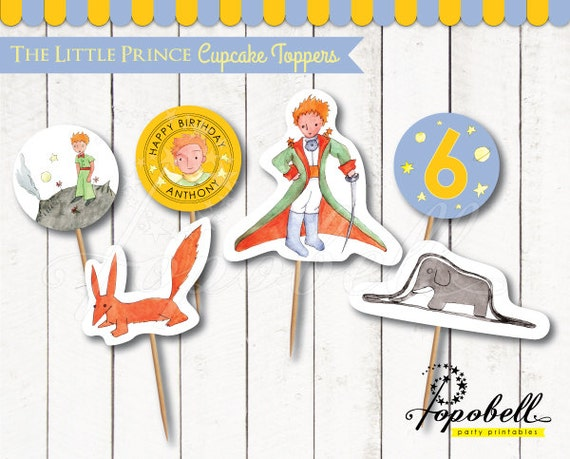 The little prince cupcake toppers for the little prince Decoration le petit prince