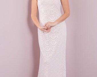 simple lace bohemian wedding dress, bohemian lace wedding dress, beach wedding dress, bohemian lace wedding dresses, vintage wedding