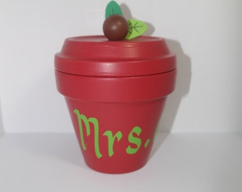 Personalized Apple Candy Holder (Teacher Appreciation )