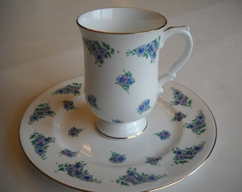 Cup and Saucer Royal Victoria Bone China