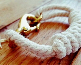 Mainely Rope White on White Bracelet