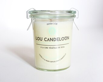 Wax candle soy HONEY - ALMOND 160 ml.