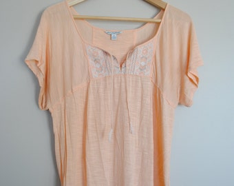 Orange Top with Bead Detail - Size Small