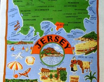 Jersey Souvenir tea towel - FREE POSTAGE