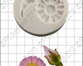 Flower silicone mould (mold) - 'Rosebud & Daisy' by FPC Sugarcraft | resin mold, fimo mold, polymer clay mold, soapmaking mold A006