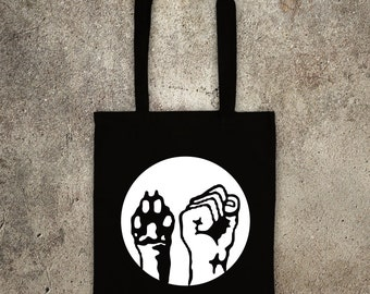 ANIMAL LIBERATION  tote shopper bag vegan veggie animal rights alf protest shopping