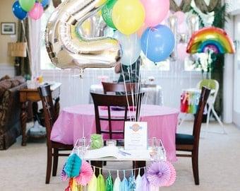 Number Balloons, Jumbo Birthday Balloons, Gold Foil Party Decor, Giant Balloon, First Birthday Balloon, Mylar Balloon