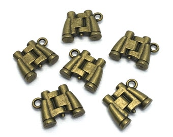 12 binocular charms bronze tone ,17mm# CH 116