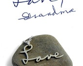 Custom Handwriting Necklace | Personalized Love Necklace | Signature Necklace