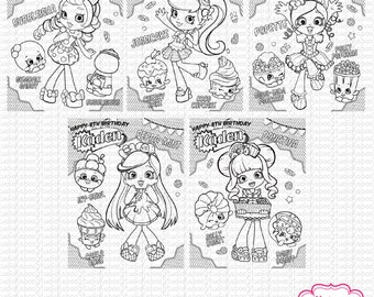 19 Personalized Shopkins Shoppies Coloring Sheets Activity Pages