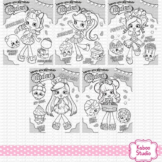 shopkins shoppies coloring pages - photo#18
