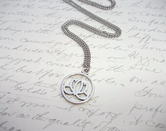 Lotus charm stainless steel chain