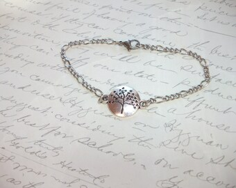 Tree of life silver bracelet
