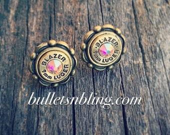 Brass Cameo Bullet Casing Studs 9mm