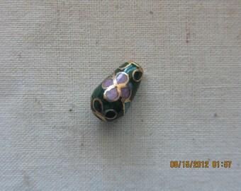 Vintage Cloisonne Beads tear drop 24 beads