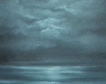 Submerge - Original oil on canvas seascape painting by Sam Lyle