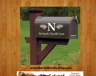 Personalized Mailbox Decal, Custom Mailbox Decal, Address Decal, Mailbox Numbers, Mailbox Monogram, Mailbox Stickers