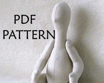 PDF Pattern. Baby Doll Pattern. Sewing Pattern ONLY. Cloth Doll Pattern.  Little Baby Pattern. DIY Cloth Doll in Tilda style.
