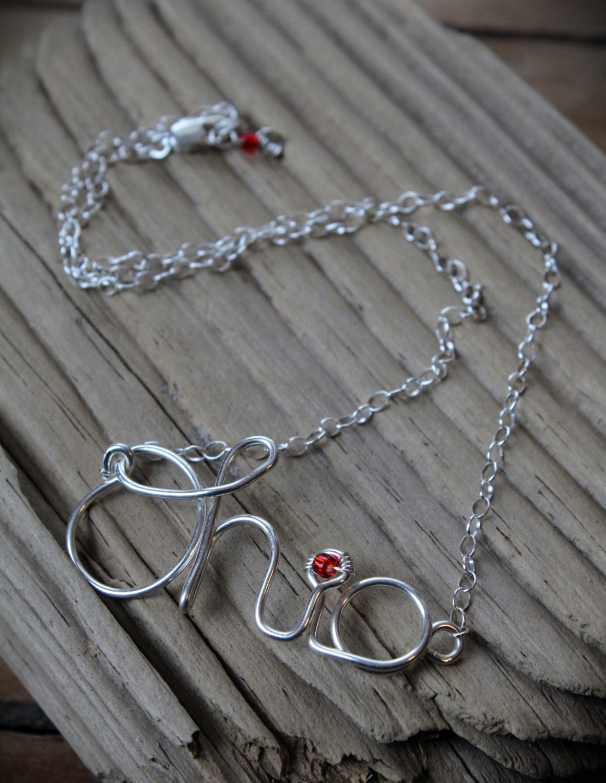 medium script ohio necklace script ohio jewelry buckeye
