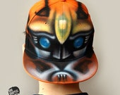 TRANSFORMER |Bumblebee Snapback Hat |Autobot |GRAFFITI |Custom NAMED |Initials |Boy snapback |Personalized gift |Hand painted hat |Airbrush
