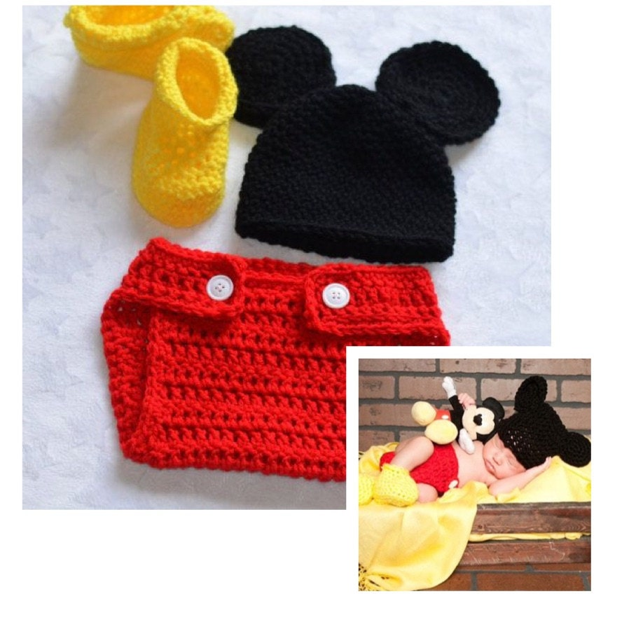 Baby Boy Mickey Mouse Crochet Outfit Halloween by ...