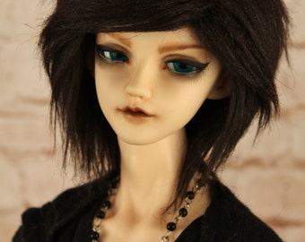 BJD Fur wig Dark brown (choose your size)