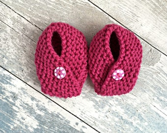 Baby Girl Booties, Infant Booties, Knitted Booties, Newborn Girl Shoes, Baby Girl Accessories, Newborn Baby Gift, Baby Shower Present