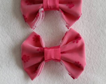 Hot Pink Paw Print Hair Clip Alligator Clip