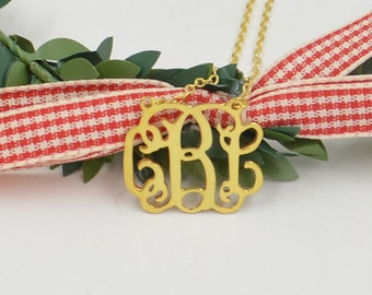 "Initial necklace,Personalized 1""gold initial pendant,initial jewelry,any initial,Christmas gift for women"