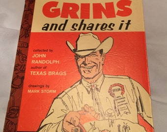 Texas Grins and Shares it, book about the Lone Star State, 1967, Cartoons and Jokes